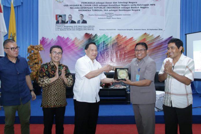 MPR Ingin Politeknik Nusa Utara Lahirkan 'Engineer' Penuh Inovasi