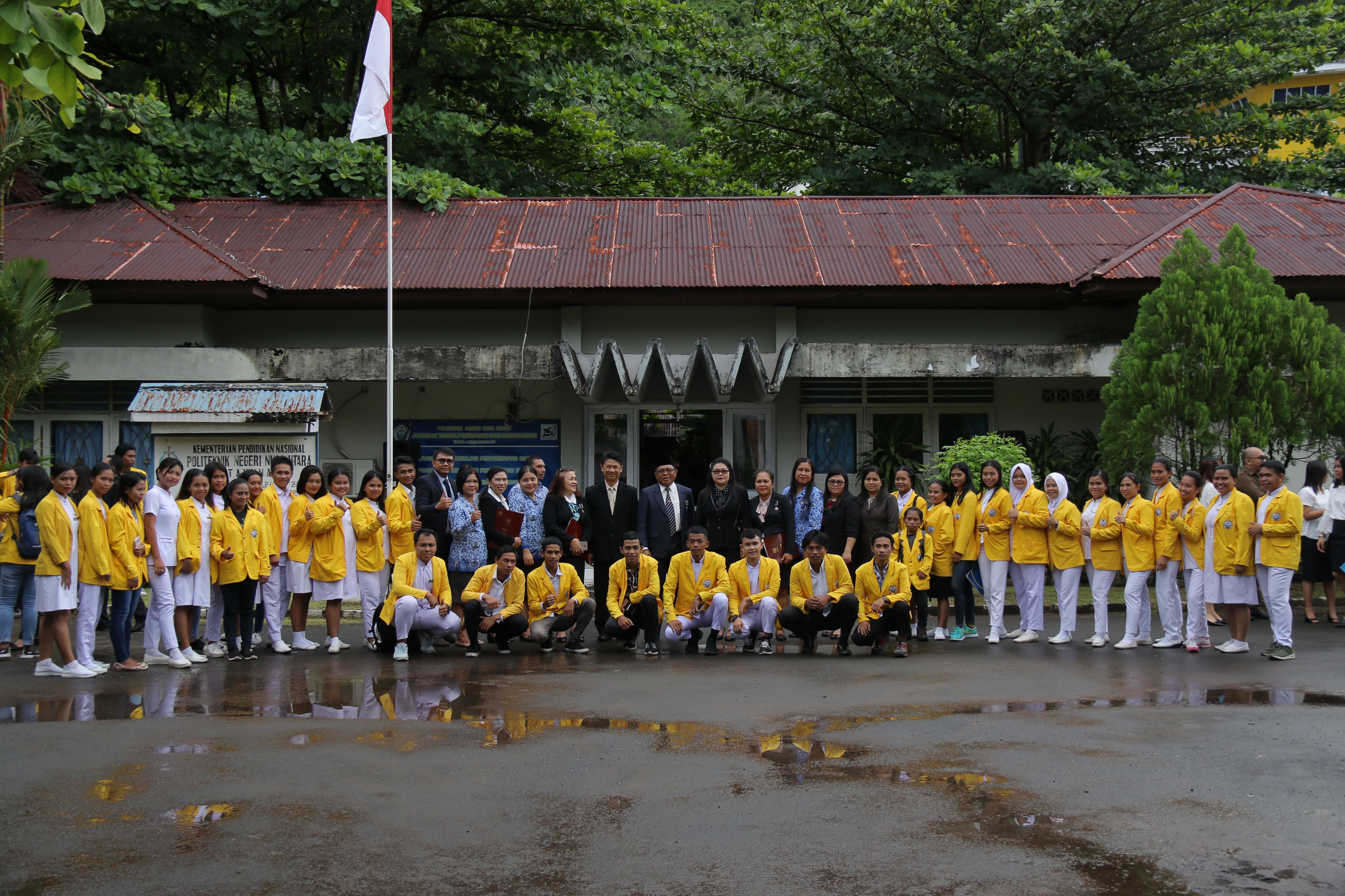Politeknik Negeri Nusa Utara laksanakan Upacara Peringatan Hari Lahir Pancasila
