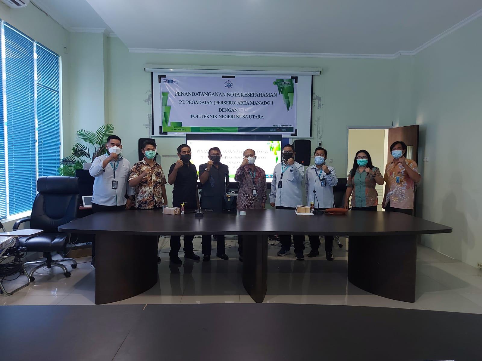Perjanjian Kerja Sama PT Pegadaian (persero) Kantor Area Manado 1 dengan Politeknik Negeri Nusa Utara